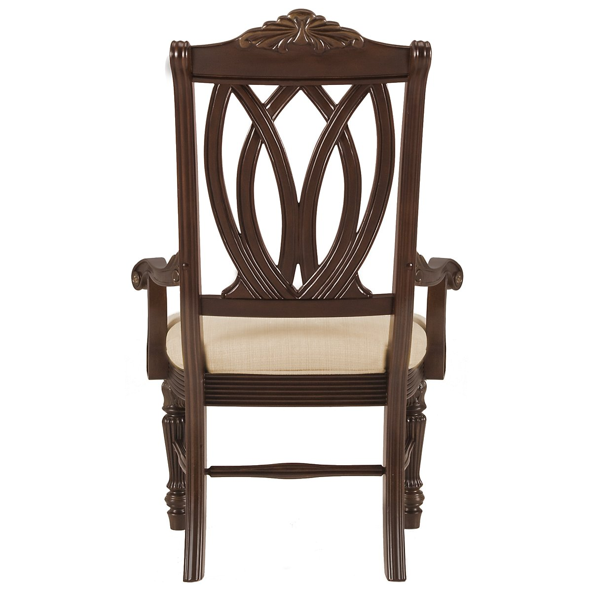 Tradewinds Dark Tone Wood Arm Chair