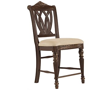 "Tradewinds Dark Tone 24"" Wood Barstool"