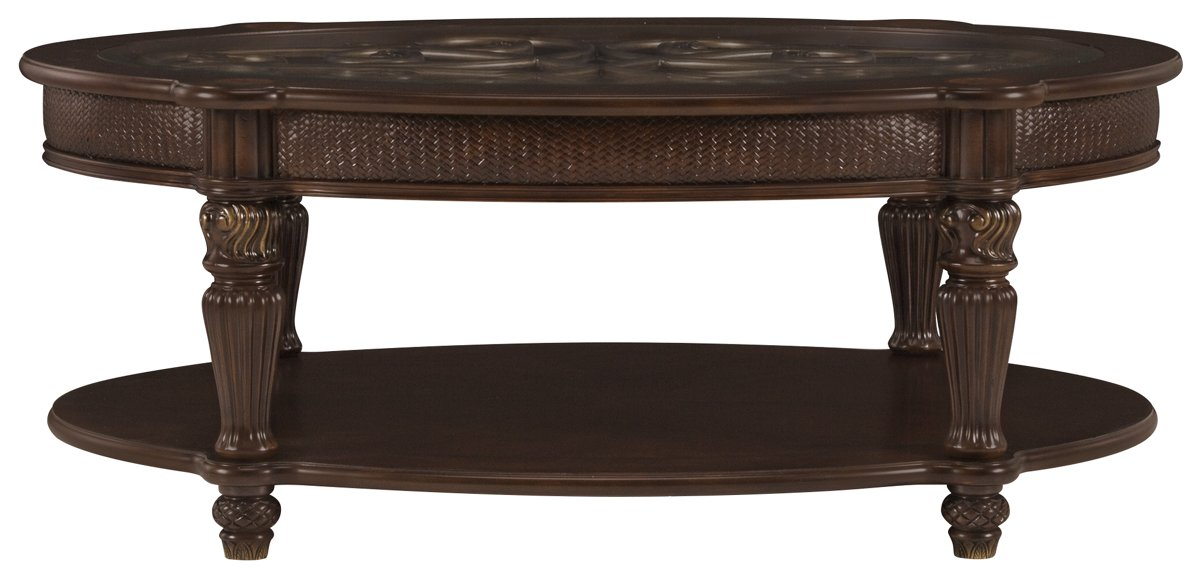 city furniture: tradewinds dark tone metal oval coffee table