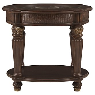 Tradewinds Dark Tone Metal Round End Table