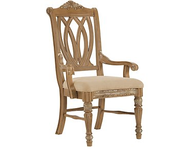 Tradewinds2 Light Tone Wood Arm Chair