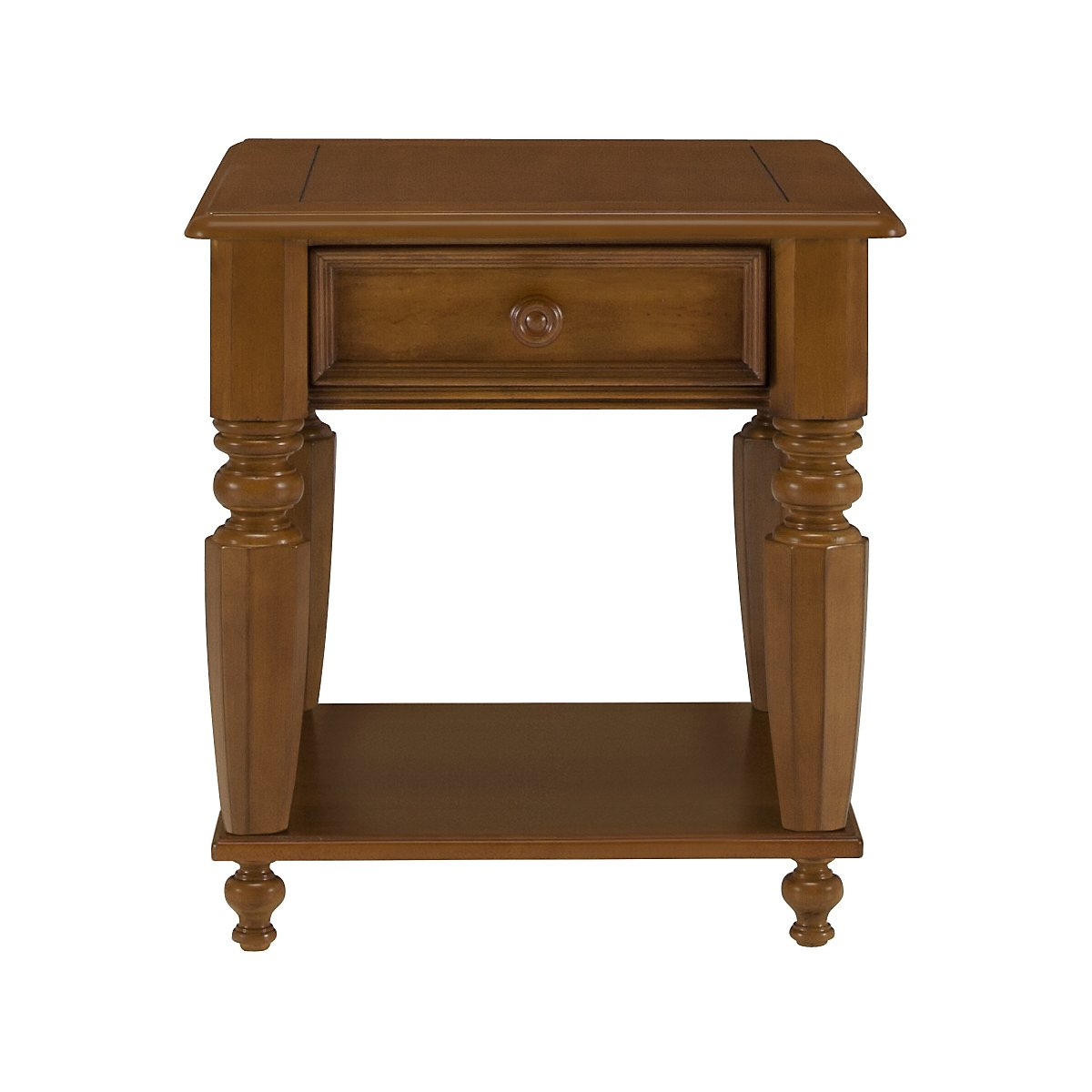 Claire Mid Tone Wood Storage End Table