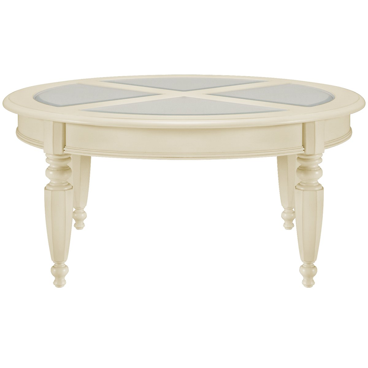 Claire White Round Coffee Table