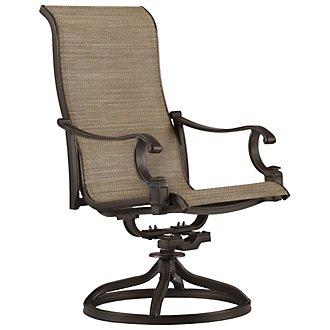 Primera Dark Tone Swivel Sling Chair
