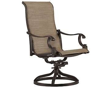 Primera Dark Tone Swivel Sling Chair