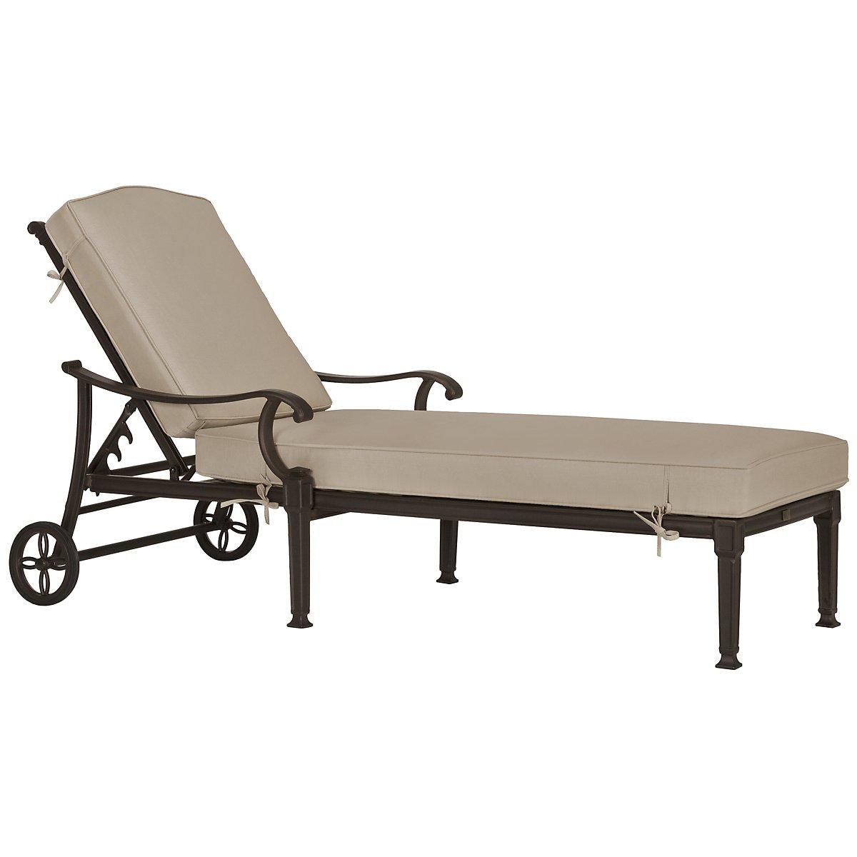 Primera Dark Tone Cushioned Chaise