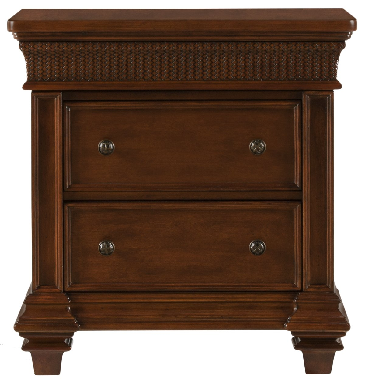 Antigua Mid Tone Wood Nightstand