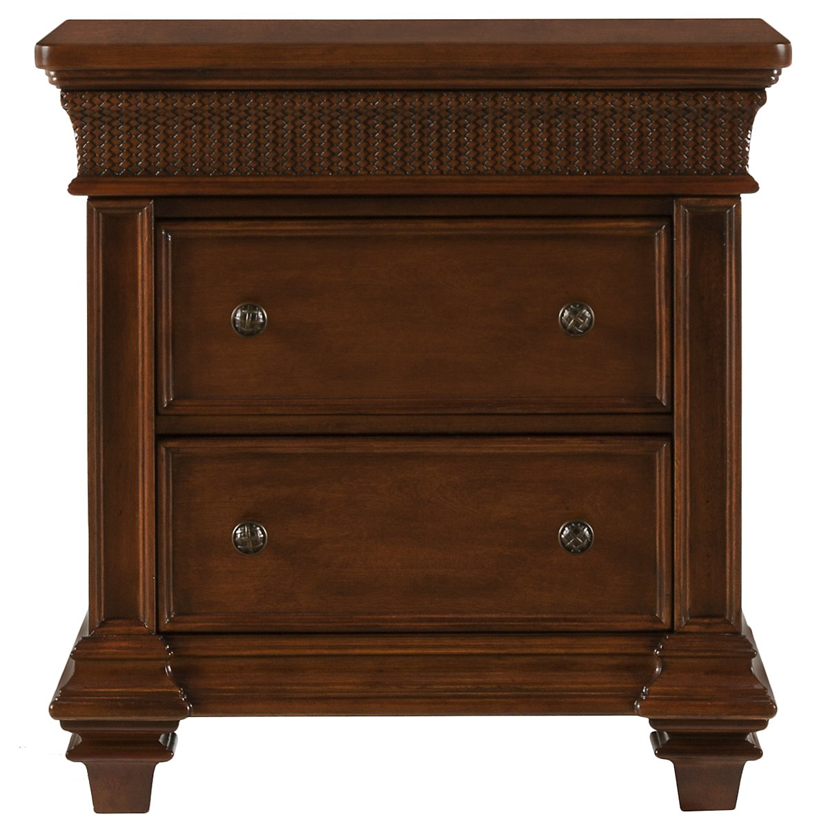 city furniture antigua mid tone nightstand. Black Bedroom Furniture Sets. Home Design Ideas