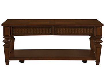 Antigua Mid Tone Rectangular Coffee Table