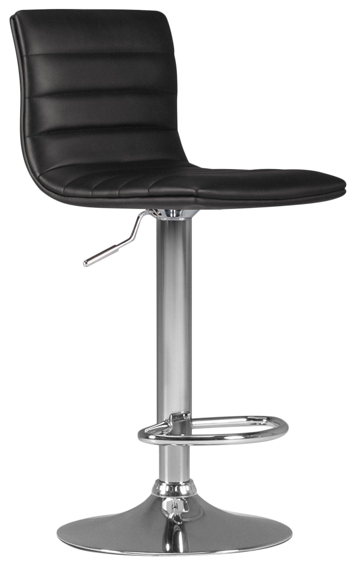 Motivo Black Upholstered Adjustable Stool