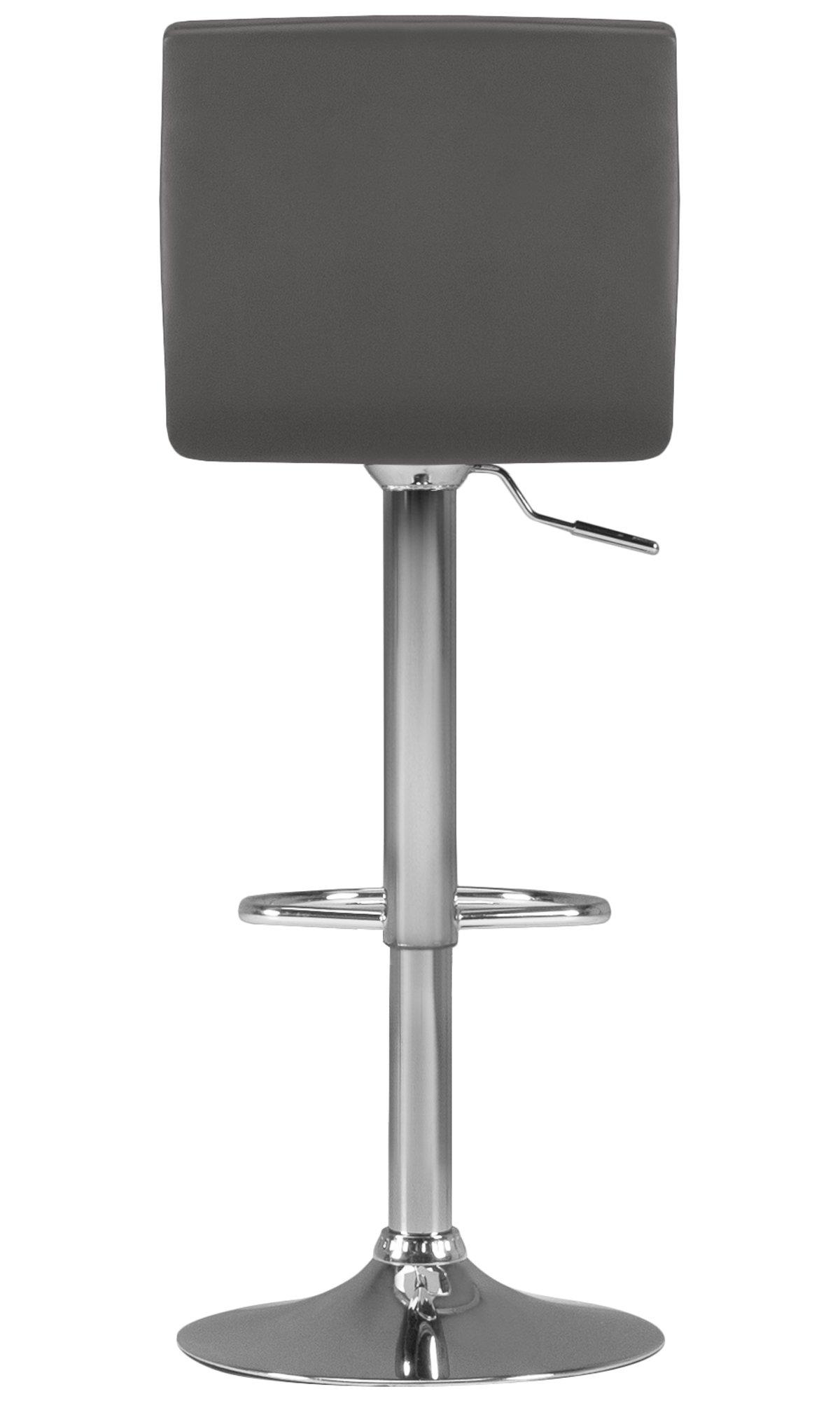 Motivo Gray Upholstered Adjustable Stool