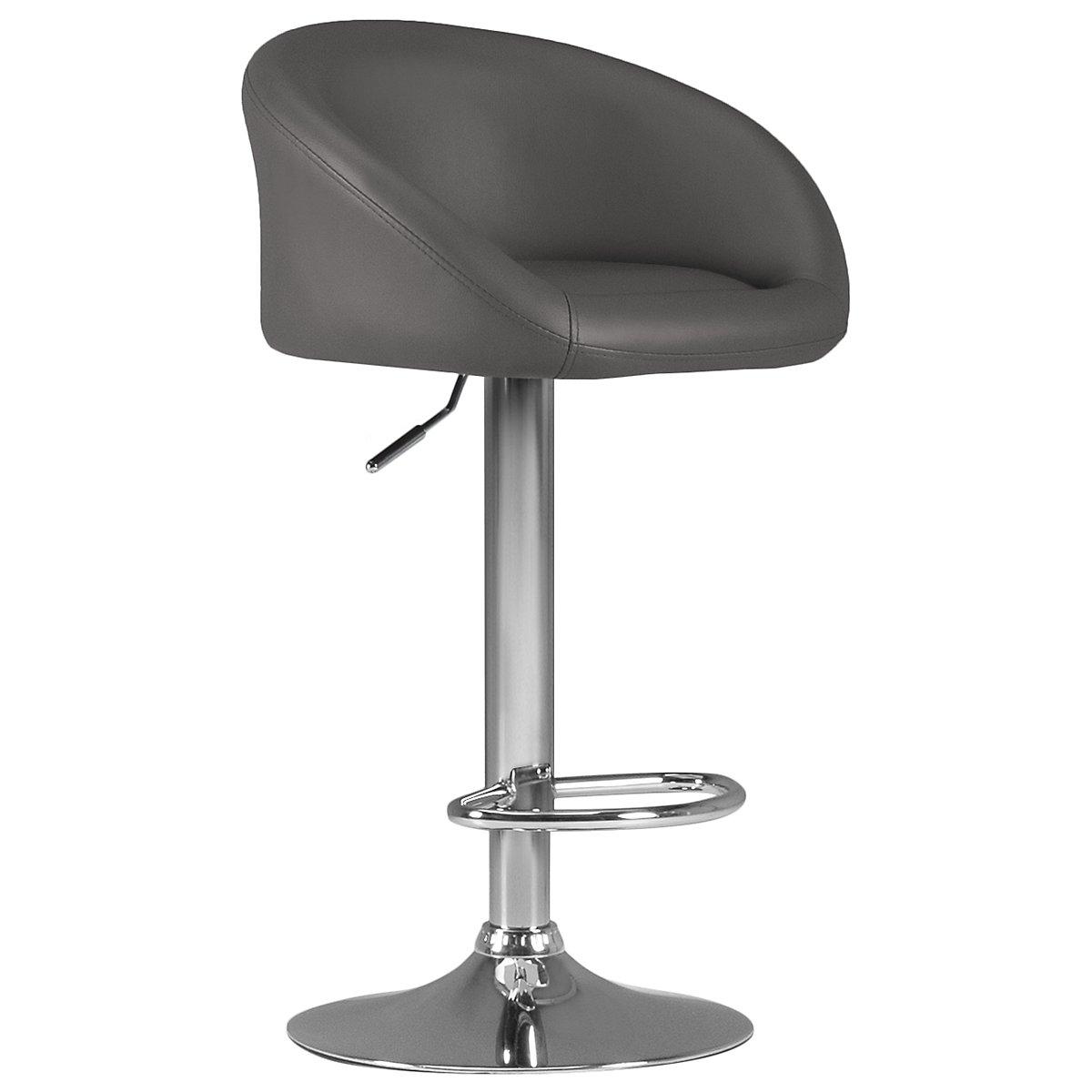 City Furniture Dayton Gray Upholstered Adjustable Stool