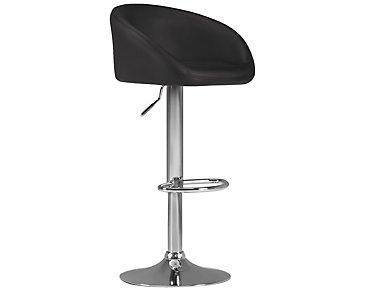 Dayton Black Upholstered Adjustable Stool