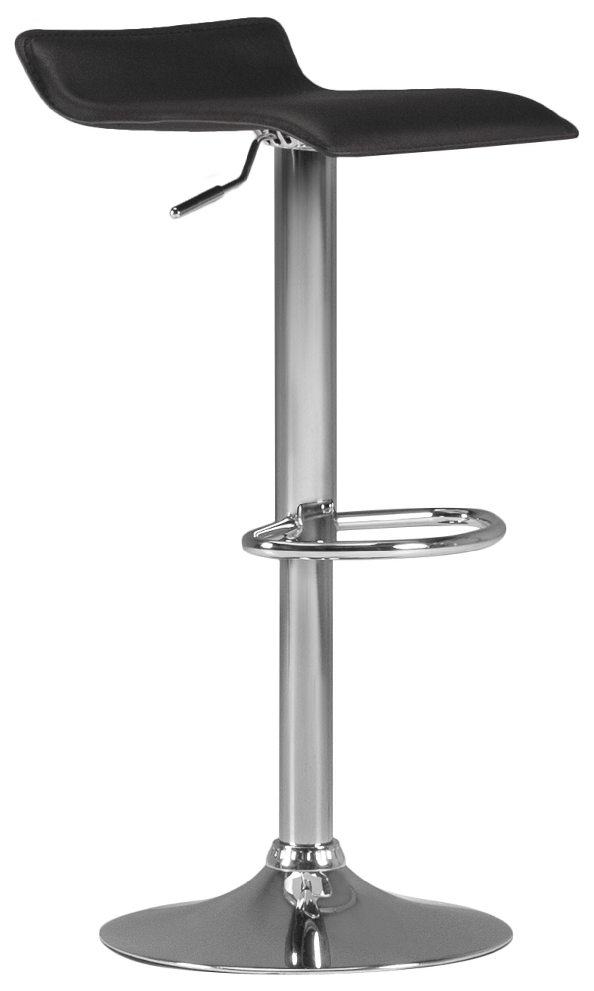 Colton Black Adjustable Stool