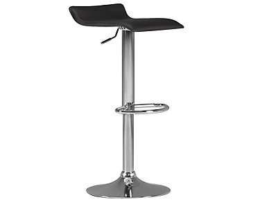 Colton Black Adjustable Stool