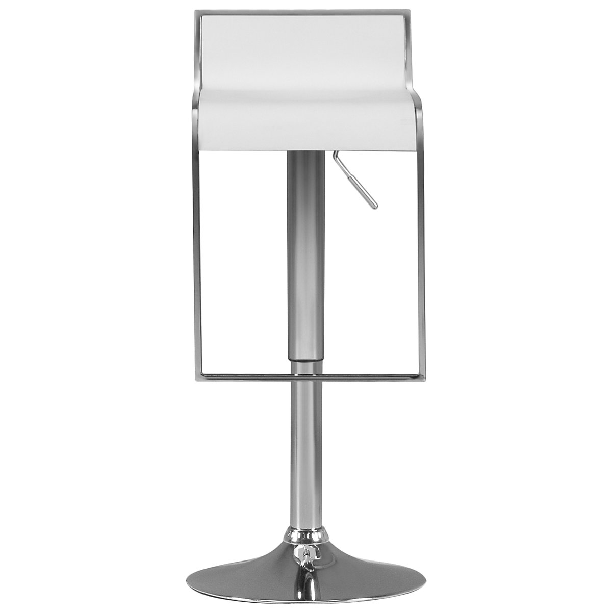 Oslo White Adjustable Stool