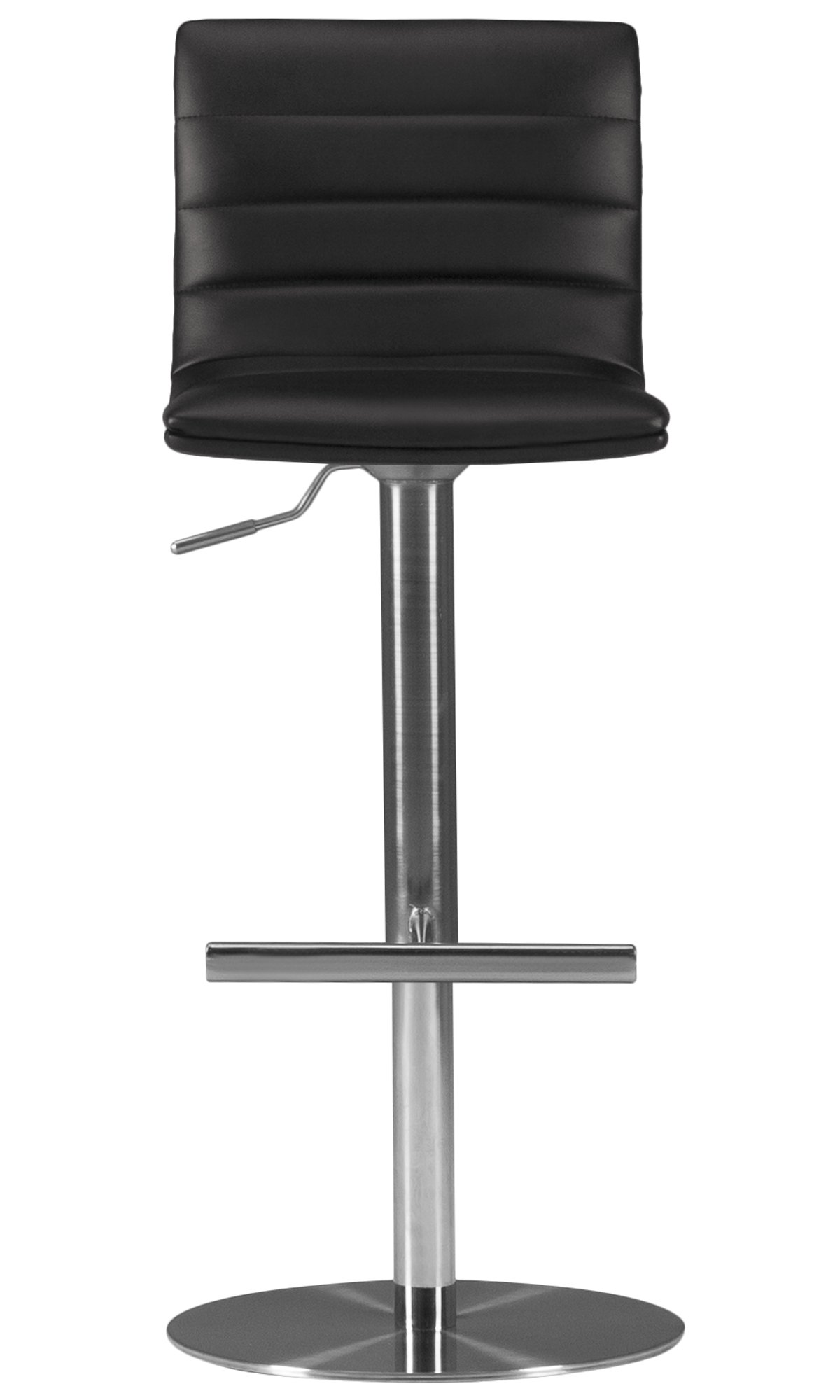 Ellis Black Upholstered Adjustable Stool