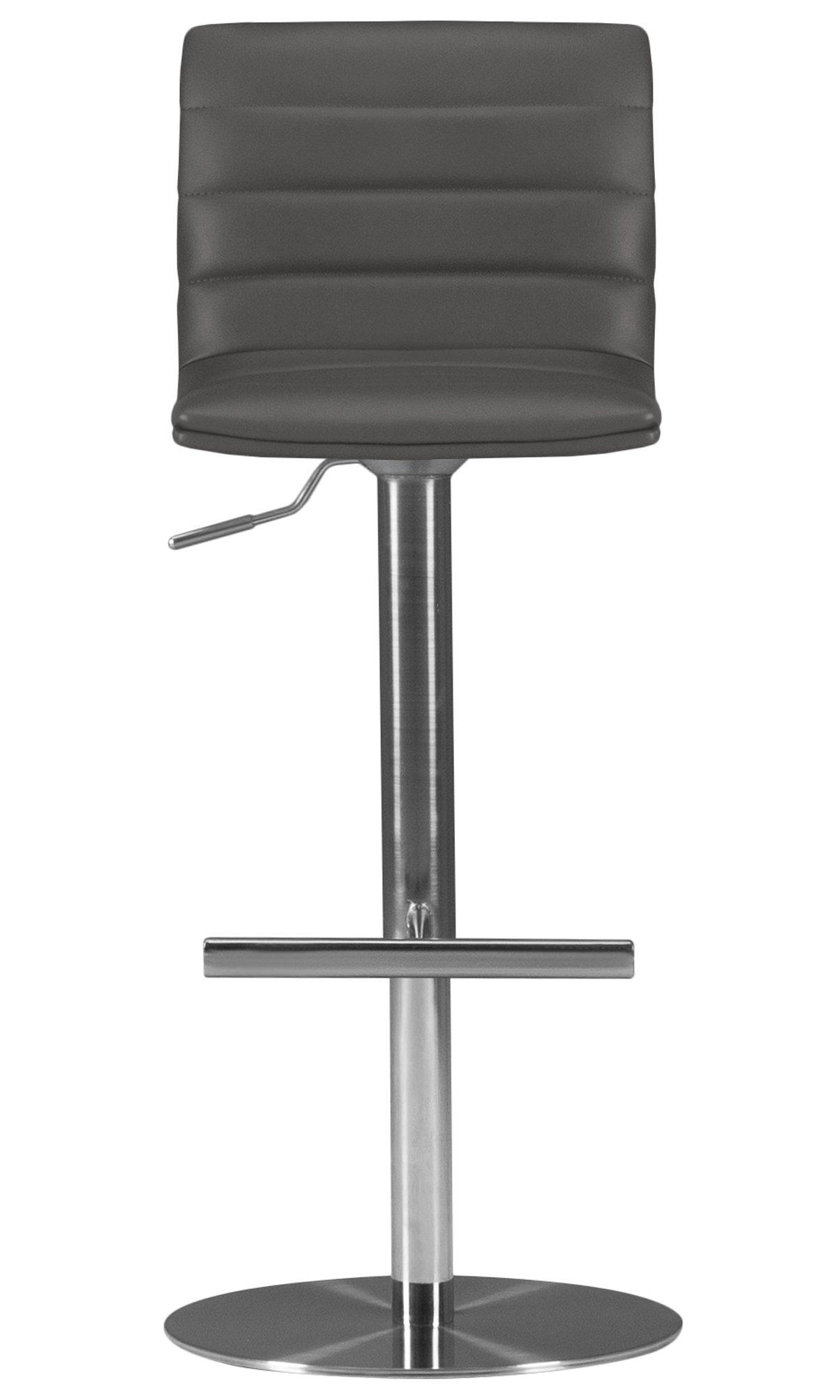 Ellis Gray Upholstered Adjustable Stool