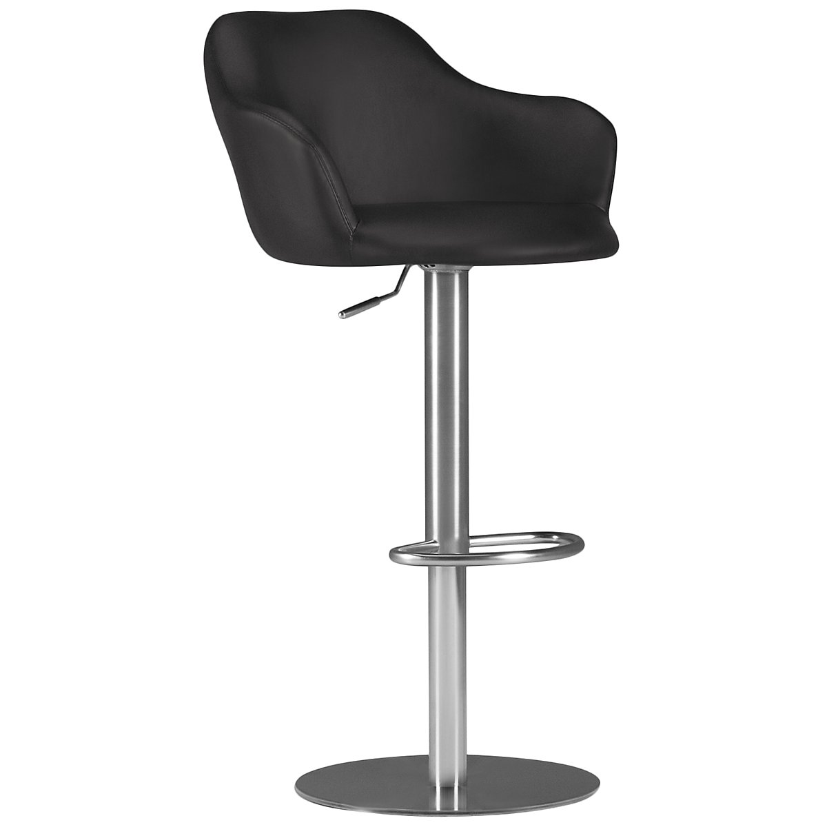 Hyde Black Upholstered Adjustable Stool