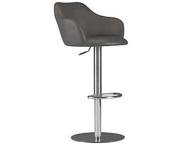 Hyde Gray Upholstered Adjustable Stool