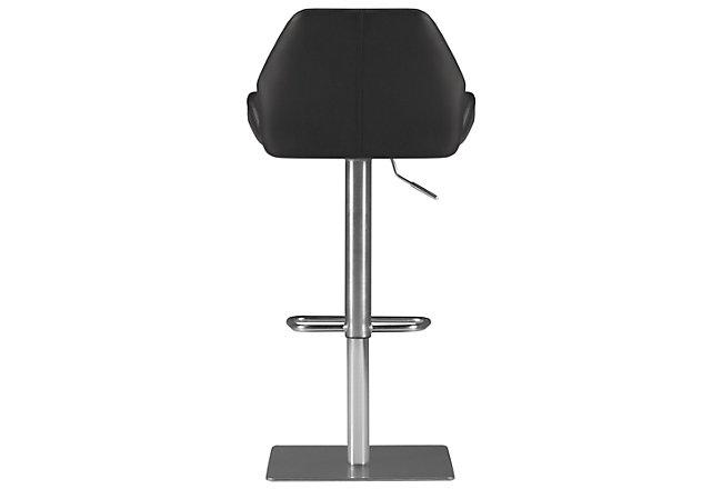 Fairfax Black Upholstered Adjustable Stool