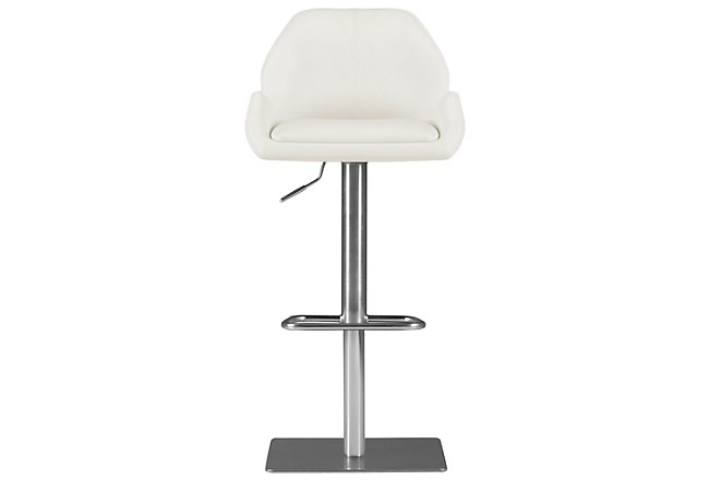Fairfax White Upholstered Adjustable Stool