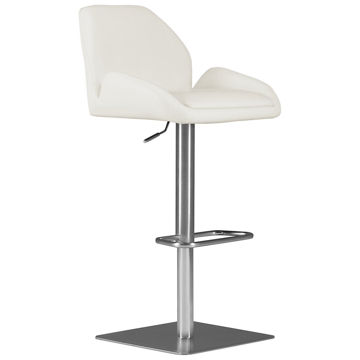 Fairfax White Upholstered Uph Adjustable Stool