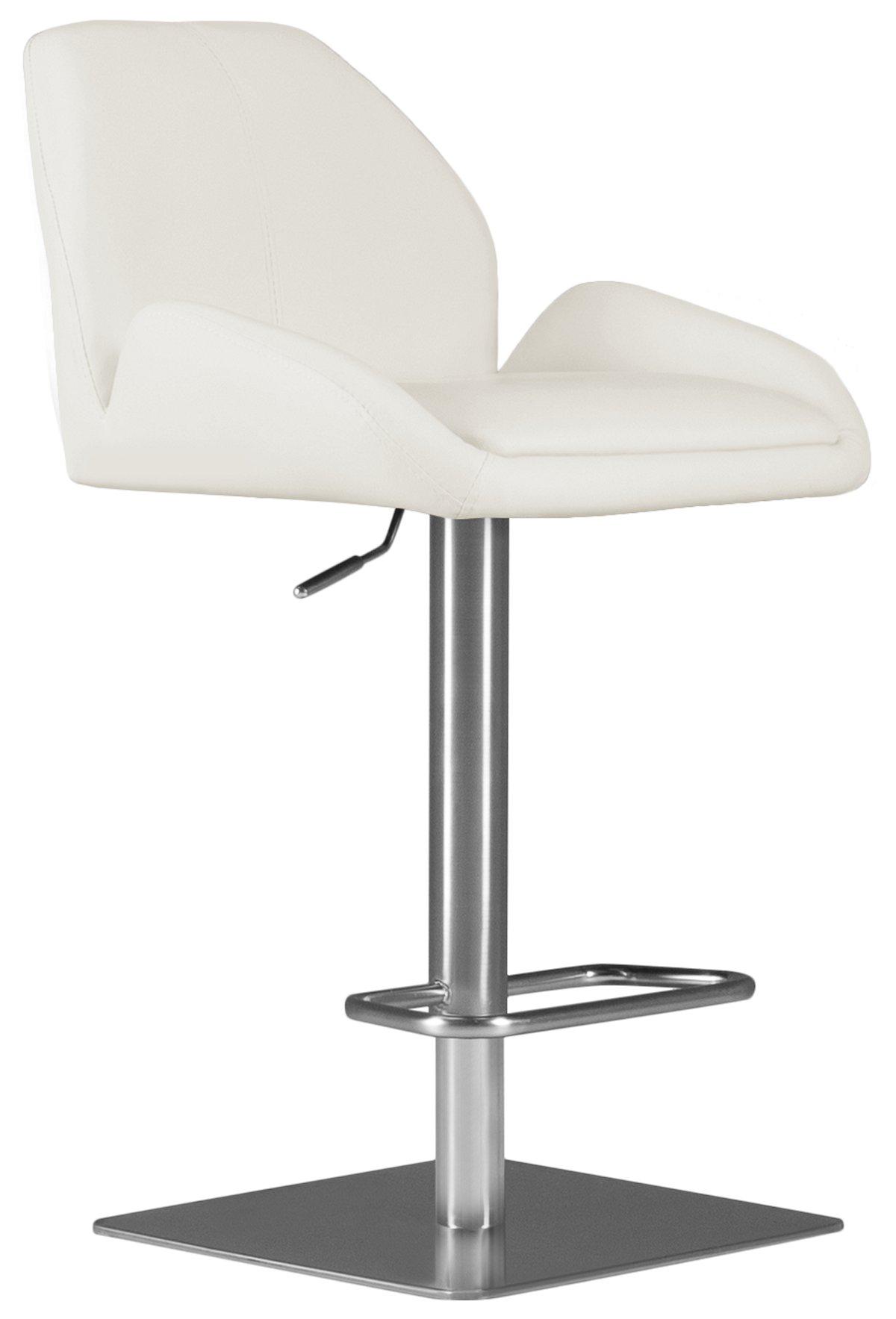 Fairfax White Upholstered Adjustable Stool