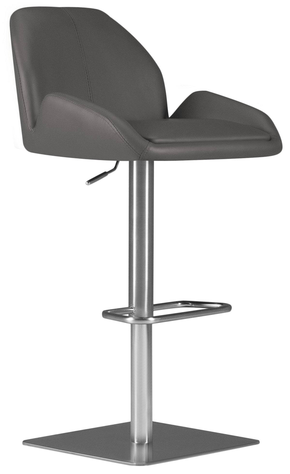 Fairfax Gray Upholstered Adjustable Stool