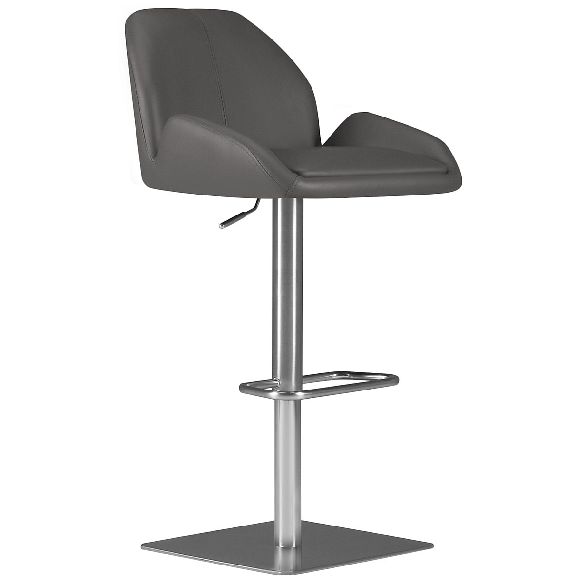 Fairfax Gray Upholstered Uph Adjustable Stool
