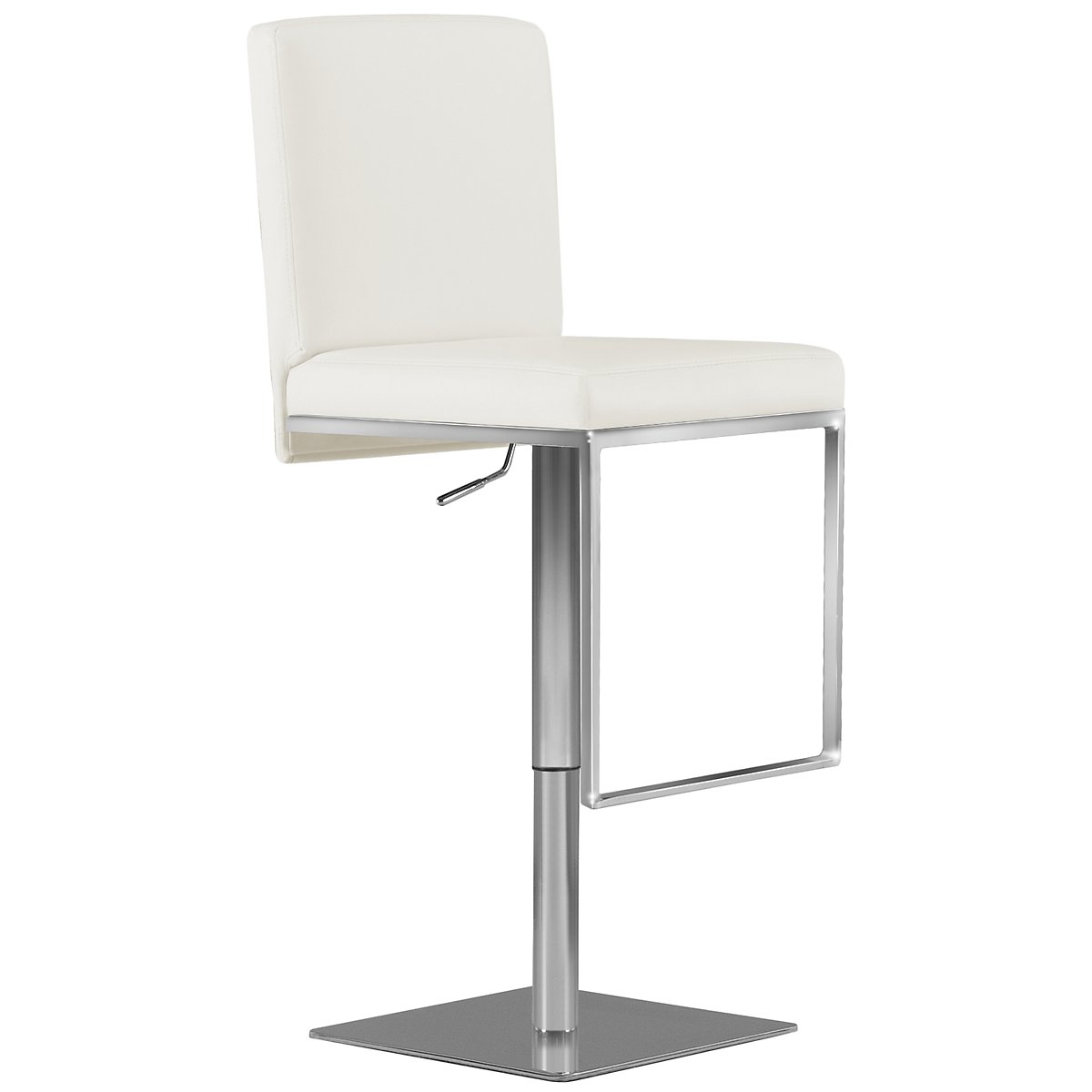 Berlin White Upholstered Uph Adjustable Stool