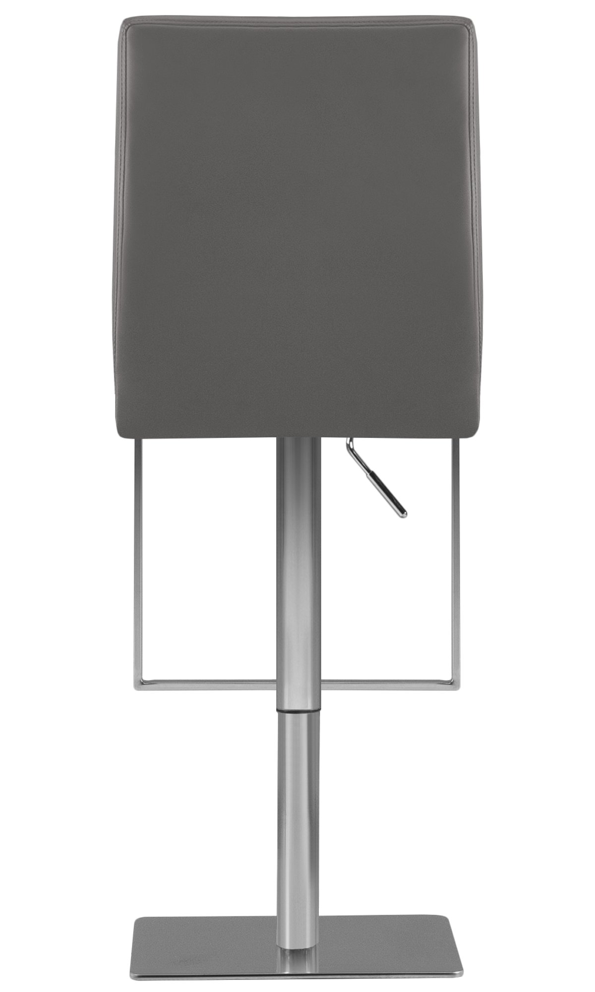 Berlin Gray Upholstered Adjustable Stool