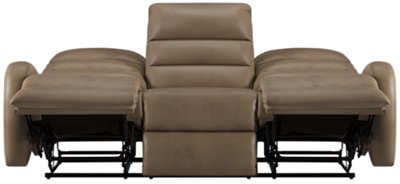 Awesome Carver Beige Microfiber Reclining Sofa Part 16