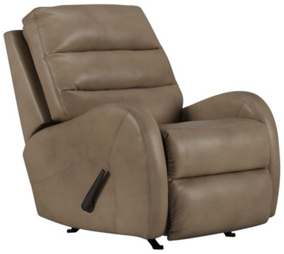 carver beige microfiber rocker recliner - Leather Rocker Recliner