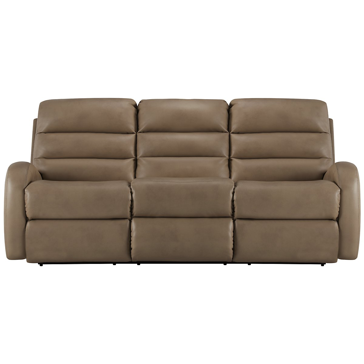 Carver Beige Microfiber Power Reclining Sofa