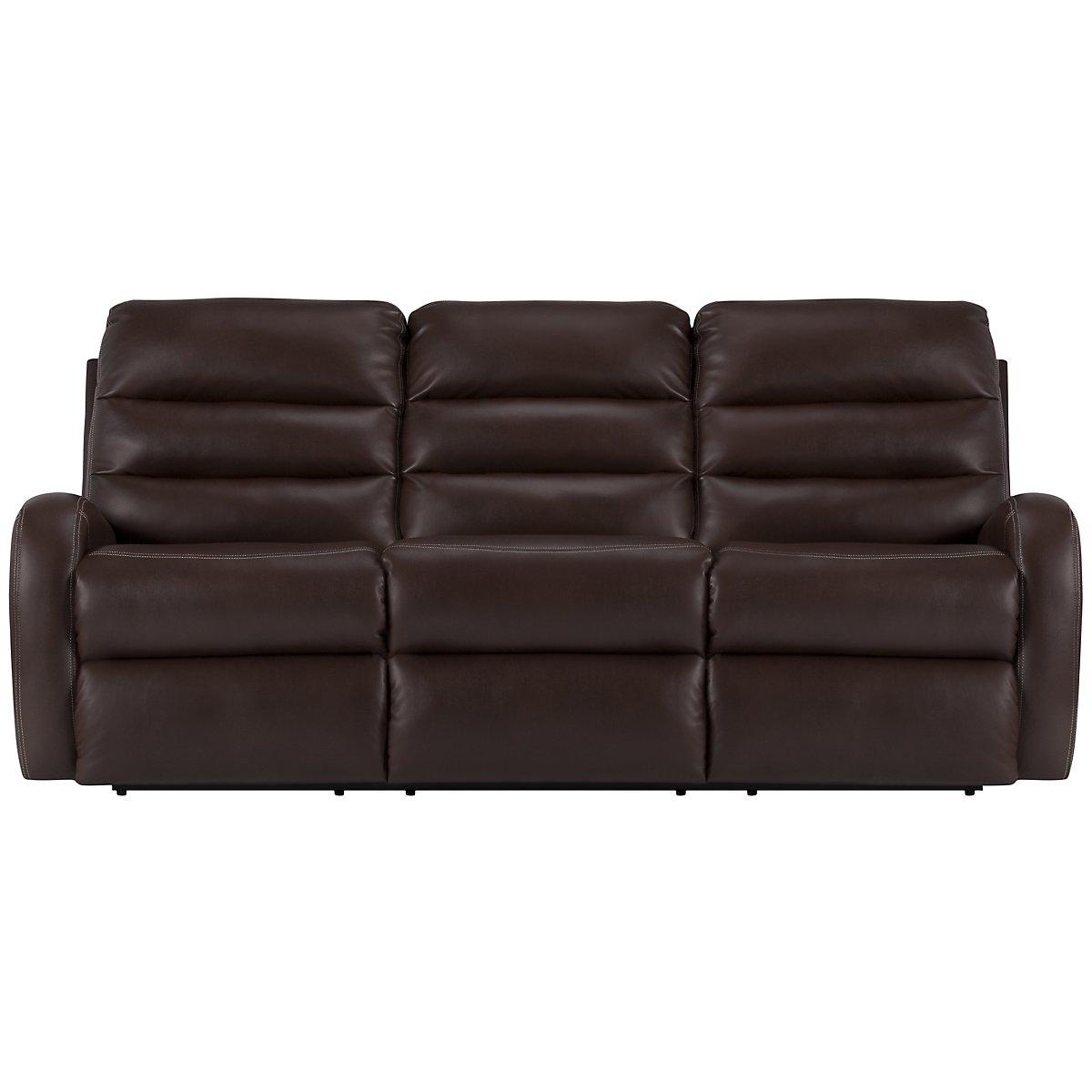 Carver Dark Brown Microfiber Reclining Sofa