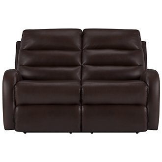 Carver Dark Brown Microfiber Reclining Loveseat