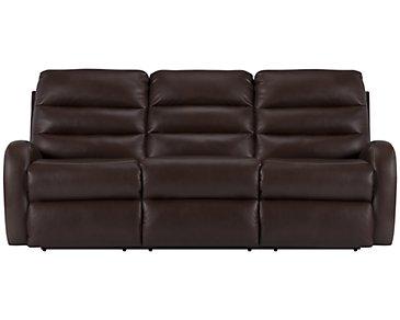 Carver Dark Brown Microfiber Power Reclining Sofa
