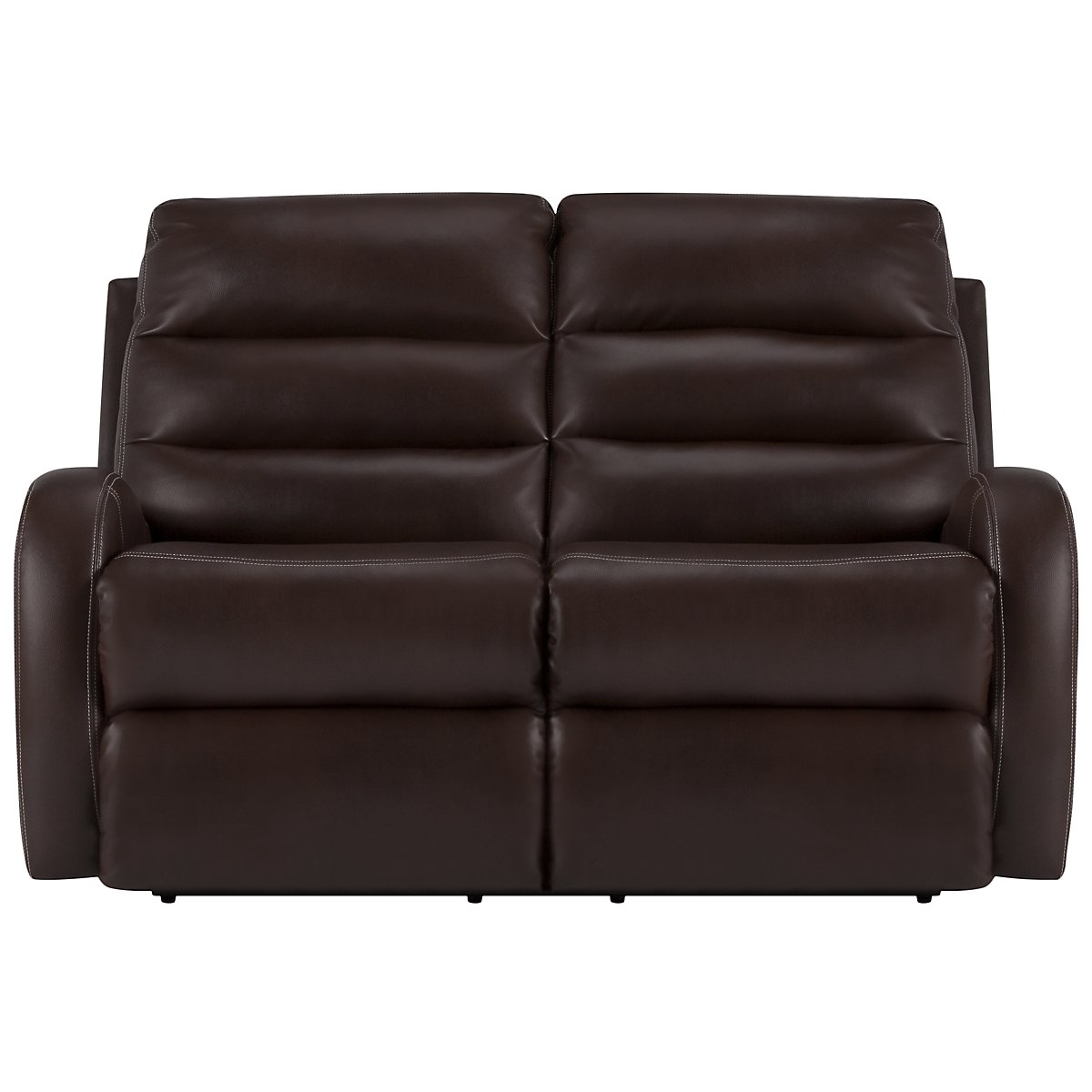 Carver Dark Brown Microfiber Power Reclining Loveseat