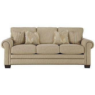 Erin Light Brown Fabric Sofa