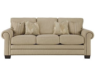 Erin Light Brown Fabric Sofa