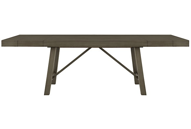 Omaha Gray Wood Rectangular Table