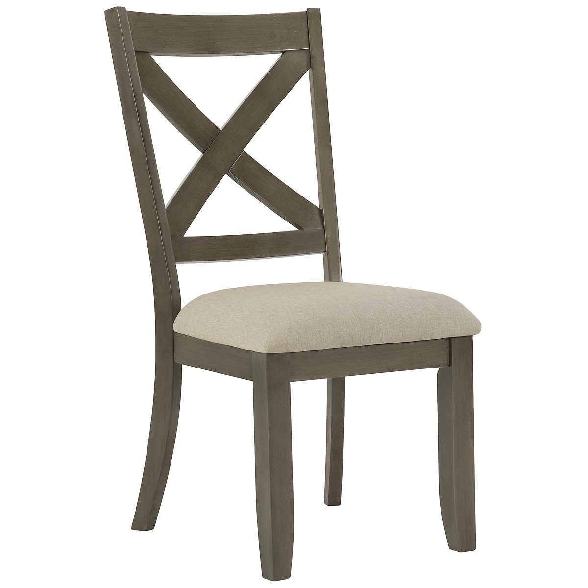 Omaha Gray Rectangular Table 4 Wood Chairs