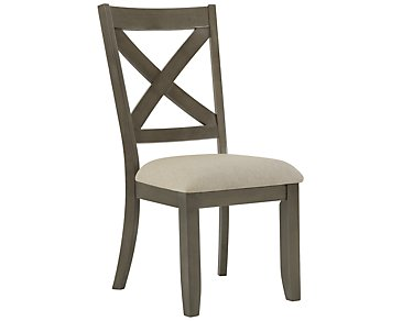 Omaha Gray Wood Side Chair