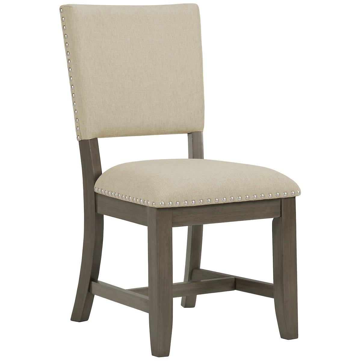 Omaha Gray Upholstered Upholstered Side Chair