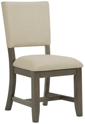 Omaha Gray Rectangular Table U0026 4 Upholstered Chairs