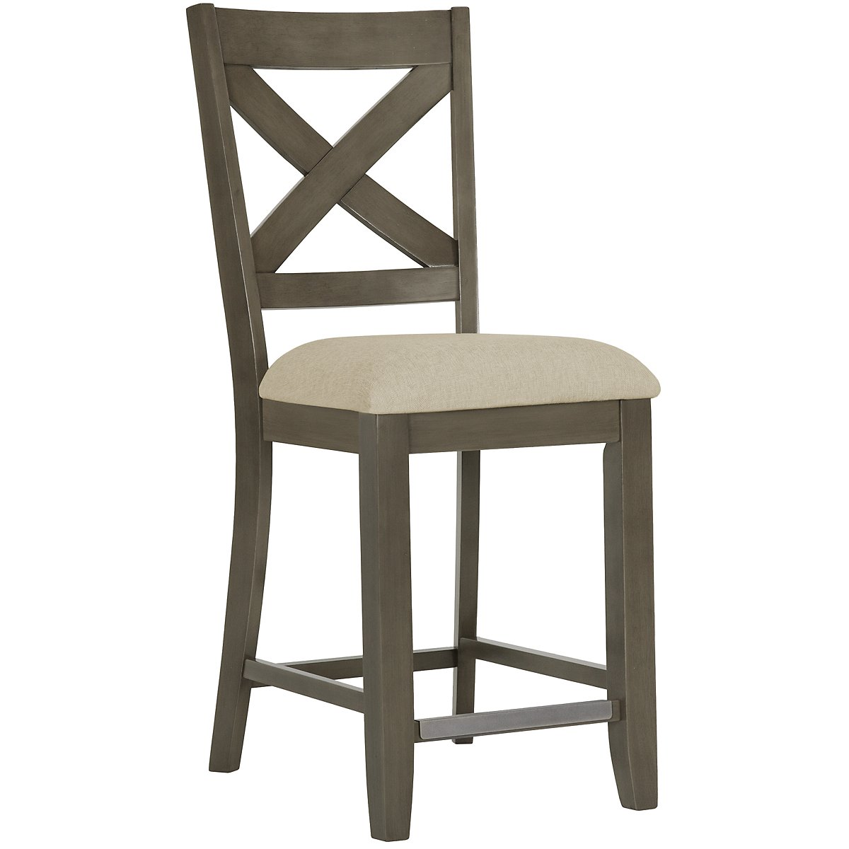City Furniture Omaha Gray 24 Wood Barstool