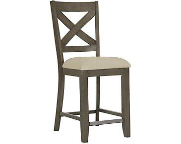 "Omaha Gray 24"" Wood Barstool"