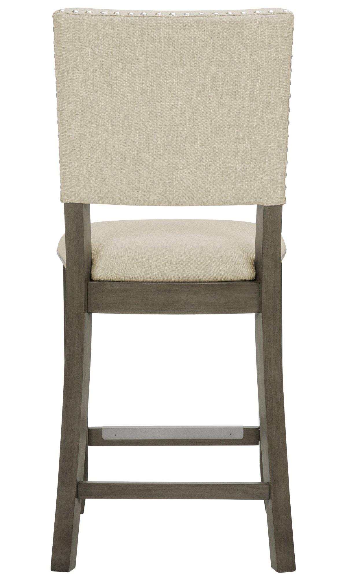 """Omaha Gray Upholstered 24"""" Upholstered Barstool"""
