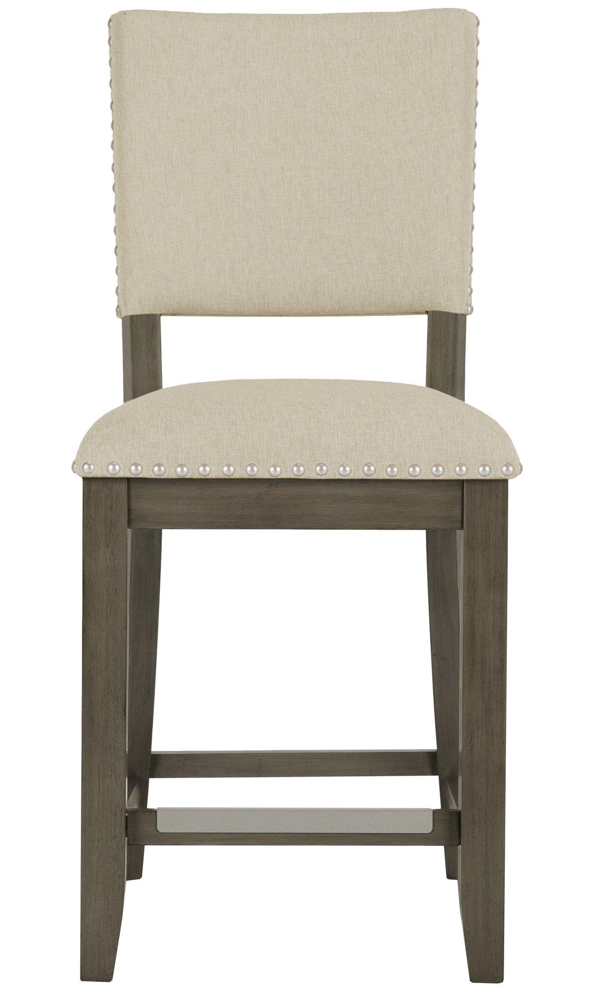 Omaha Gray Upholstered 24 Upholstered Barstool